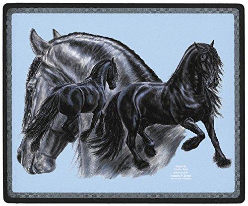 Preisvergleich Produktbild Mousepad mit Pferdemotiv - FRIESENGRUPPE - Gr. ca. 24x20cm (22501) Eyecatcher für den Schreibtisch