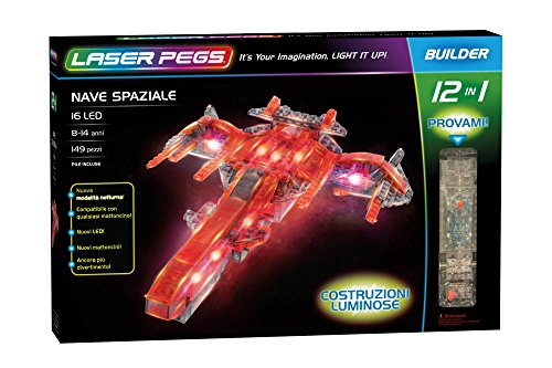 Laser Pegs 12010 Space Cruiser 12-in-1 Building Set (Modell Car Race Kits)