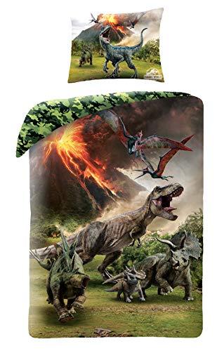 Jurassic World Bettwäsche Dinosaur Dino Dinosaurier 140x200 cm + 70x90 cm (Jurassic World Dinosaurier)