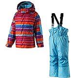 Etirel Kinder Winter Schneeanzug Kids Habibi Overall Ski, Größe:86;Farbe:Multicol/Pink/Orange