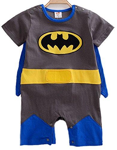 g für Jungen und Mädchen im Batman-Look (Superhelden-baby Kostüme)