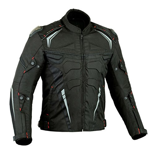 SPEED MAXX LTD Proviz Herren XTRA PROTECTION CE Armour Sommer-Motorradjacke Motorradjacke Textiljacke (7XL)