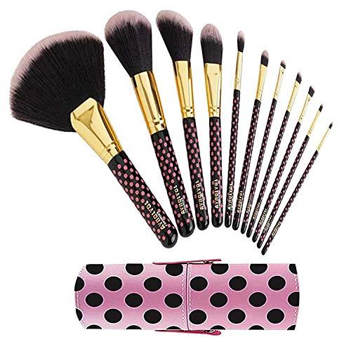 BHs Pink a Dot Cosmetics Make-up Pinselset Make up Pinsel 11 Stück Pink - Kleine Elf-bürstenhalter