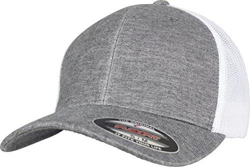 Flexfit Retro Trucker Cap, Grey/White Mesh, S/M