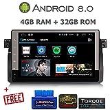 GÜMÜ-PX5PROAV06-Autoradio BMW Serie 3 E46 -M3 Android 8.0 Octa Core + 4 GB RAM+ 32 GB ROM, GPS, GPS, 9 Zoll Touchscreen, WiFi, Bluetooth, USB-Port