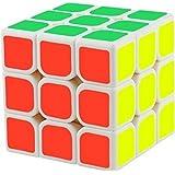 D Eternal Rubix Cube 3x3x3 White Cube High Speed Stickerless Magic Rubick Rubik's Cube 3x3 Puzzle Rubic Cube Brainteaser Game Toy