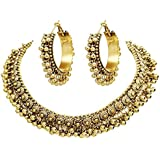 Total Fashion Choker Necklace Set With Earrings for Girls & Women