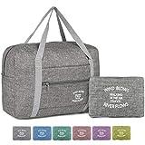 WANDF Foldable Travel Duffel Bag Sac de Voyage Pliable Sac de Sport Gym Résistant à l'eau Nylon