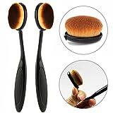 2 X Maquillage en forme de brosse à dents Pro Visage Fondation Pinceau Poudre Oval Maquillage Cosmetic