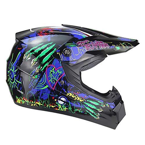 Preisvergleich Produktbild LPC Motorradhelm Batterie Autohelm Mountainbike Vollhelm Vier Jahreszeiten Universal Erwachsener Helm Outdoor Reithelm Mode (Size : S)