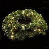 Tannenkranz 36cm mit 35 LEDs Türkranz Weihnachtskranz Weihnachten Deko neu