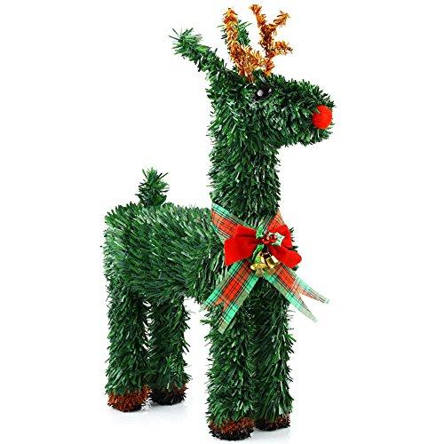 Anddas vacanze di Natale decorazione per feste decorazione cortile con renna (17