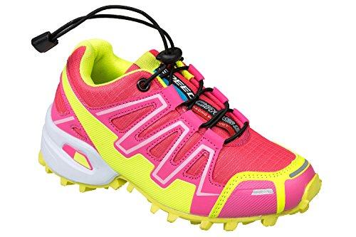 GIBRA® Kinder Sportschuhe, pink/neongelb, Gr. 31-36 pink/neongelb