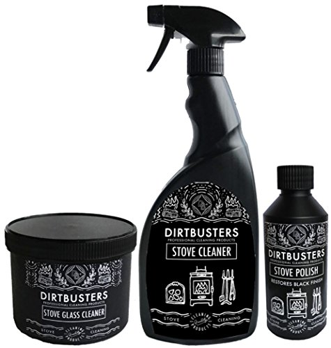 Dirtbusters Stove Care Kit (glass cleaner, polish & stove cleaner)