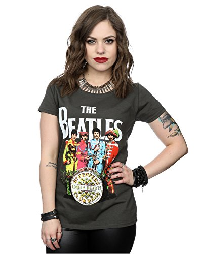 The Beatles mujer Sgt Pepper Camiseta XX-Large Grafito luz