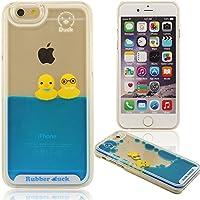 che fluisce Liquido Etile iPhone 6 Plus Custodia, Poco Giallo Anatra, Rubber Duck, Nuoto Anatra Serie, Bella Carino Protettivo Copertura Molto Dura Molto Chiaro Trasparente Case Cover Per iPhone 6 Plus