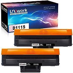 Uniwork D111S Kompatible Toner für Samsung MLT-D111S Patronen für Samsung Xpress M2070W M2026W M2070 M2020 M2020W M2022 M2022W M2026 M2070F M2070FW, 2 Schwarz