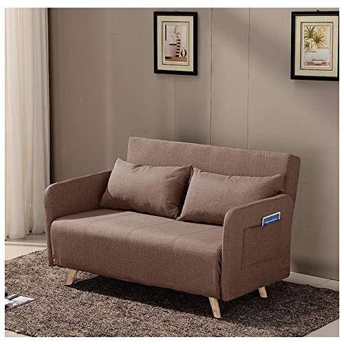 Gespräch Outdoor-möbel (TAO Multifunktions-Lazy Couch Dual-Use-Schlafsofa Faltbare Waschbar Stuhl Schlafzimmer Wohnzimmer Büro Nickerchen Gespräch Stuhl Vielzahl Kombination Vier Stile (Color : Brown, Size : A))