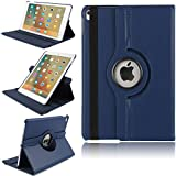iPad 2/3/4 Hülle, TechCode® Magnetic Detachable Hidden Multi-angle Folio 360 Grad Drehende Stand Cover Smart Hülle für iPad 2/3/4 (iPad 2/3/4, Blau)