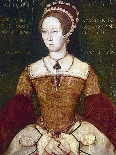 Artland Alte Meister selbstklebendes Wandbild Master John Bilder 40 x 30 cm Königin Mary I von England 1544 Kunstdruck Wandtattoo Manierismus C2SO