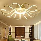 TIANLIANG04 Deckenleuchten Led-Schlafzimmer leuchten,runde Blumen,Studie,Lichter,Wohnzimmer,Deckenleuchte,12-100 cm - stufenloses Dimmen