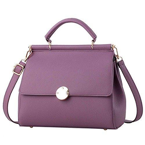 Frauen-Normallack Umhängetasche Mode-Handtasche Purple
