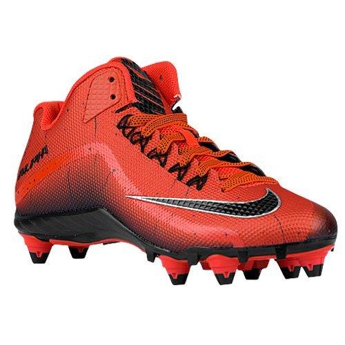 Mens Nike Alpha Pro 2 Football Cleat (10, Orange Black) (10 Football Nike Cleats)