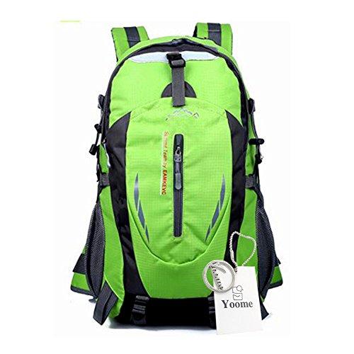 Yoome Sac à dos de randonnée 40L Weekend Pack Imperméable housse de pluie et compartiment pour ordinateur portable - pour Camping, Voyage, Randonnée