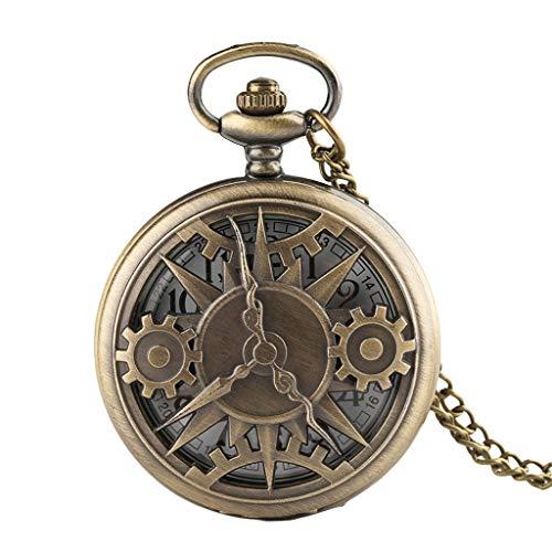 Kostüm Ziel Mal - Watches Taschenuhr und Kette for Männer, Retro Large Gear Hohlquarzuhr, als älteres Geschenk/Jubiläum/Vatertag Peaky Blinders Kostüm Watches (Color : A)