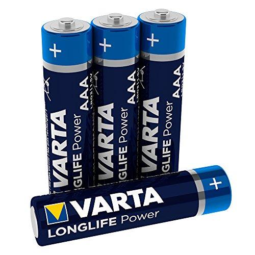 VARTA Longlife Power AAA Micro LR03 Batterie, Alkaline Batterie, ideal für Spielzeug Taschenlampe Controller und andere batteriebetriebene Geräte, 4er Pack -