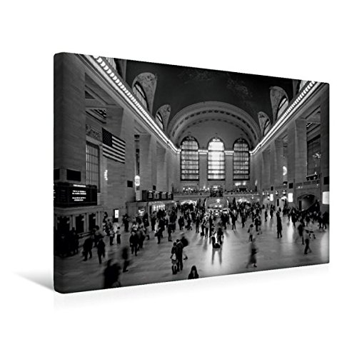 Calvendo Premium Textil-Leinwand 45 cm x 30 cm quer, Grand Central Station | Wandbild, Bild auf Keilrahmen, Fertigbild auf echter Leinwand, Leinwanddruck Orte Orte