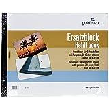 Goldbuch Ersatzblock für Schraubalbum, 30 schwarze Seiten mit Pergamin-Trennblättern, Passend für Alben mit einer Größe von 39 x 31 cm, 83077