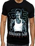 Bruce Lee Kung Fu T-Shirt Gr. Medium, schwarz