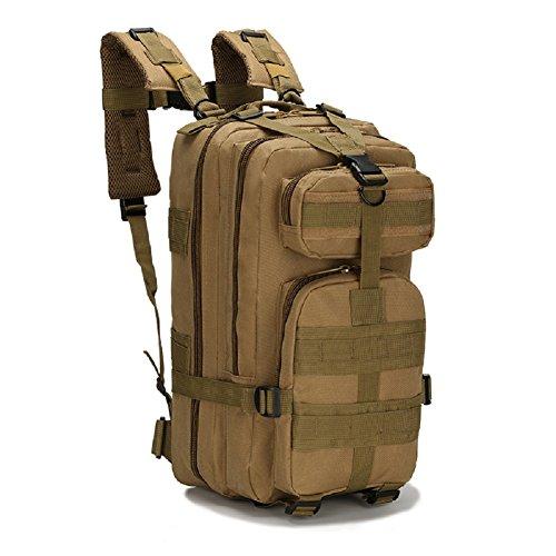 LF&F Backpack Militär Ausrüstung Tarnung Angriff Pack taktischen Kampf Rucksack Taschen Camping Rucksack Outdoor-Sport 3P Rucksack. Schultern Tasche Bergsteigen Tasche C