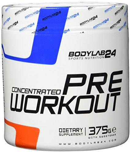 Bodylab24 Concentrated Pre Workout Geschmack: Orange, der Booster für mehr Pump und Fokus bei Deinem Training oder Wettkampf, 375g -