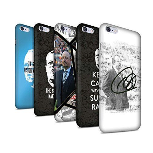 Offiziell Newcastle United FC Hülle / Matte Snap-On Case für Apple iPhone 6S+/Plus / Spanisch Maestro Muster / NUFC Rafa Benítez Kollektion Pack 8pcs