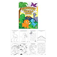 Henbrandt 12 MINI Fun Kids DINOSAUR Activity BOOKS
