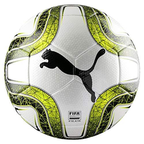 PUMA FINAL 3 Tournament FIFA Quali Match Ball Weiss-Lemon Tonic-Schwarz
