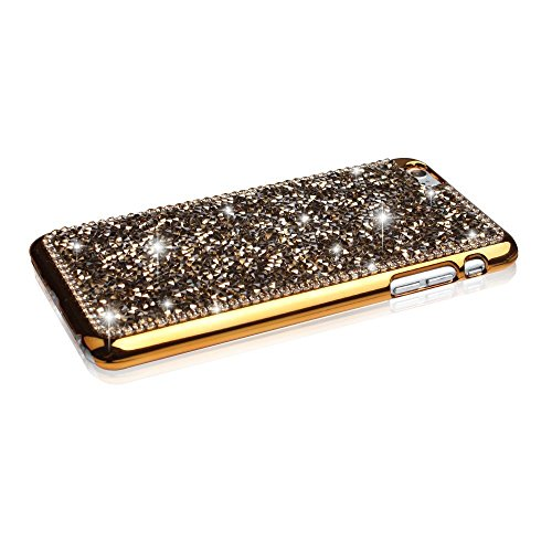 Samsung Galaxy S6Edge Coque/Case, elecfan®, bling Crystal Crown Rhinestone Flower Pearl Diamond Sparkle Glitter fabriqué à la main hardplastic Smart Protection/Cover For Samsung Galaxy S6Edge, 2016 or