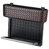 MRCARTOOL Multifunktionale Leder Autositz Seite Pocket, Console Seitentasche, Gap Catcher mit Münz-Organizer und Getränkehalter, Aufbewahrungsbox Autoinnenraum