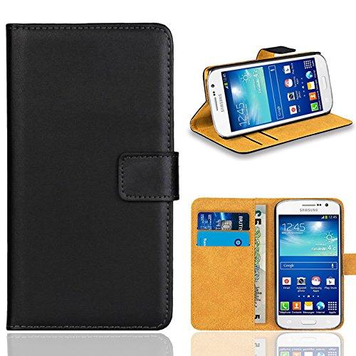Samsung Galaxy Grand Neo / Grand Neo Plus Handy Tasche, FoneExpert Wallet Case Flip Cover Hüllen Etui Ledertasche Lederhülle Premium Schutzhülle für Samsung Galaxy Grand Neo / Grand Neo Plus (Schwarz)