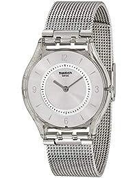 dbe7dc6e0ee0 Swatch Reloj Mujer Skin Classic Metal Knit SFM118 M
