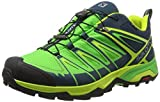 Salomon X Ultra 3 GTX, Zapatillas de Senderismo para Hombre, Azul (Reflecting Pond/Classic Green/Lime 000), 42 EU