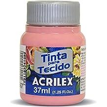 Acrilex Pintura Textil al Agua Rosa te 37 ML Ref. 567