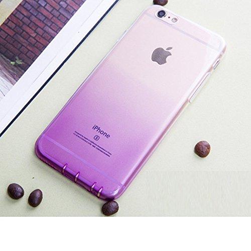 """Koala Group™iPhone 6 / 6S(4.7"""") Case, einfache weiche dünne Schutz dünne TPU weiche Steigung war dünn transluzenten Gehäuse Kommt mit Staubkappe (iphone 6/6s, white+pink) white+purple"""