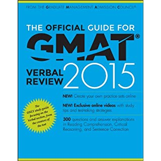 The Official Guide for GMAT Review 2015: The Official Guide for GMAT Verbal Review 2015: With Online Question Bank and Exclusive Video
