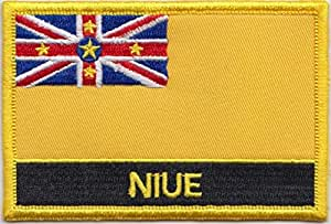 """""""Flagge von Niue"""", bestickt, Patch Abzeichen/Aufnähen oder Aufbügeln, exklusives Design von 1000 Flaggen"""