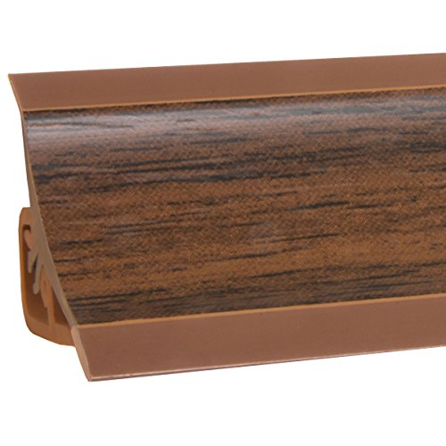 HOLZBRINK Küchenabschlussleiste Nuss dunkel Küchenleiste PVC Wandabschlussleiste Arbeitsplatten...