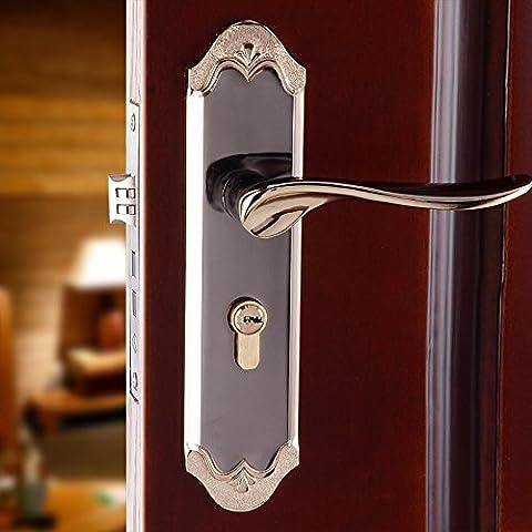 vanme minimalista de estilo europeo con llave de bloqueo de puerta mango de aleación de aluminio de madera de interior dormitorio puerta cerraduras cierre mecánico uno