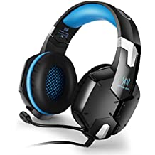 KOTION EACH G1200 USB Cuffia Gamer Stereo Surround Con Fascia Mic Basso Per PS4 PC Computer Portatile Colore Blu